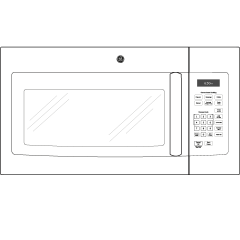 Model: JVM3160DFBB | GE GE® 1.6 Cu. Ft. Over-the-Range Microwave Oven