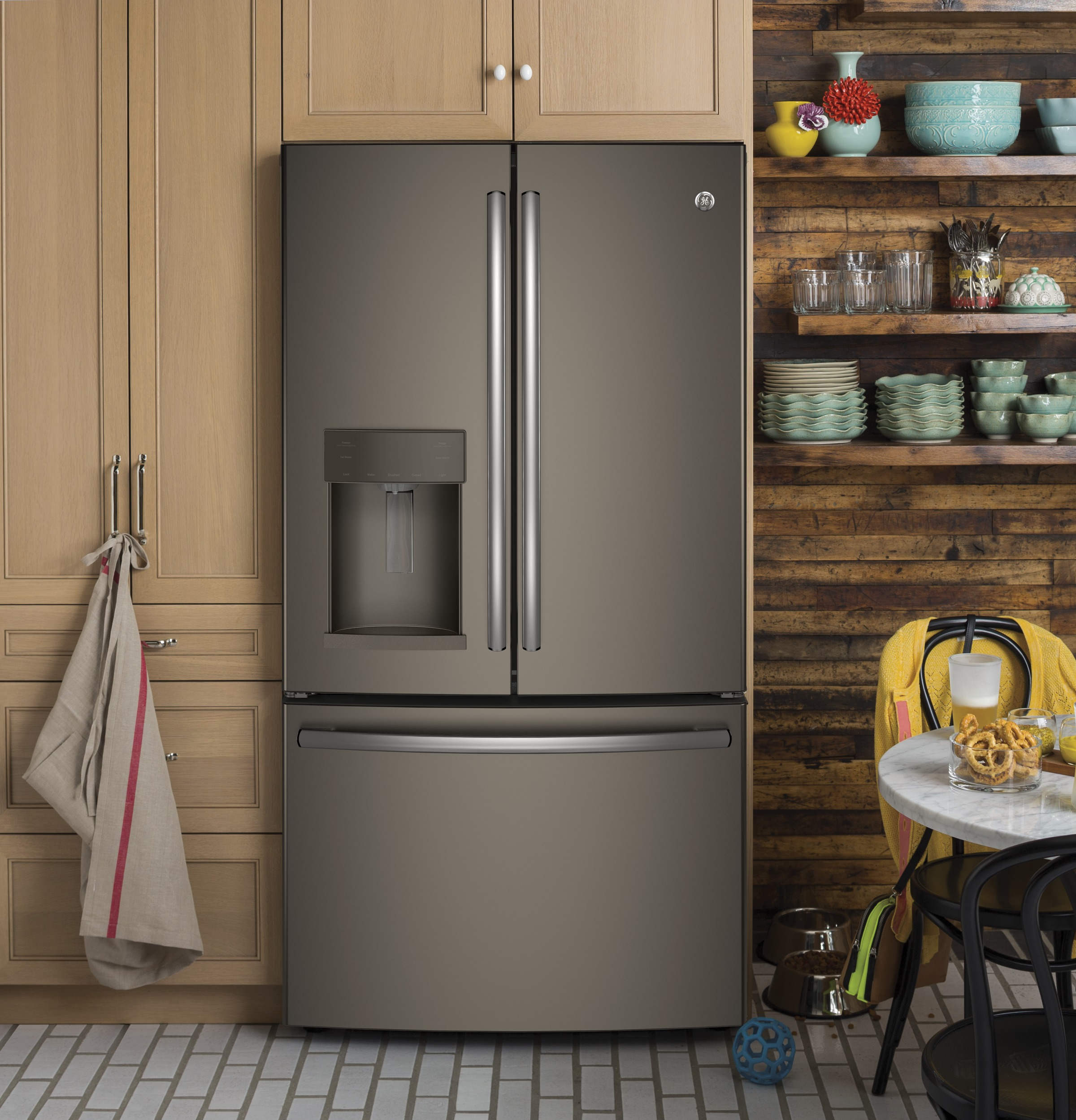 Model: GFE28GMKES | GE GE® ENERGY STAR® 27.8 Cu. Ft. French-Door Refrigerator