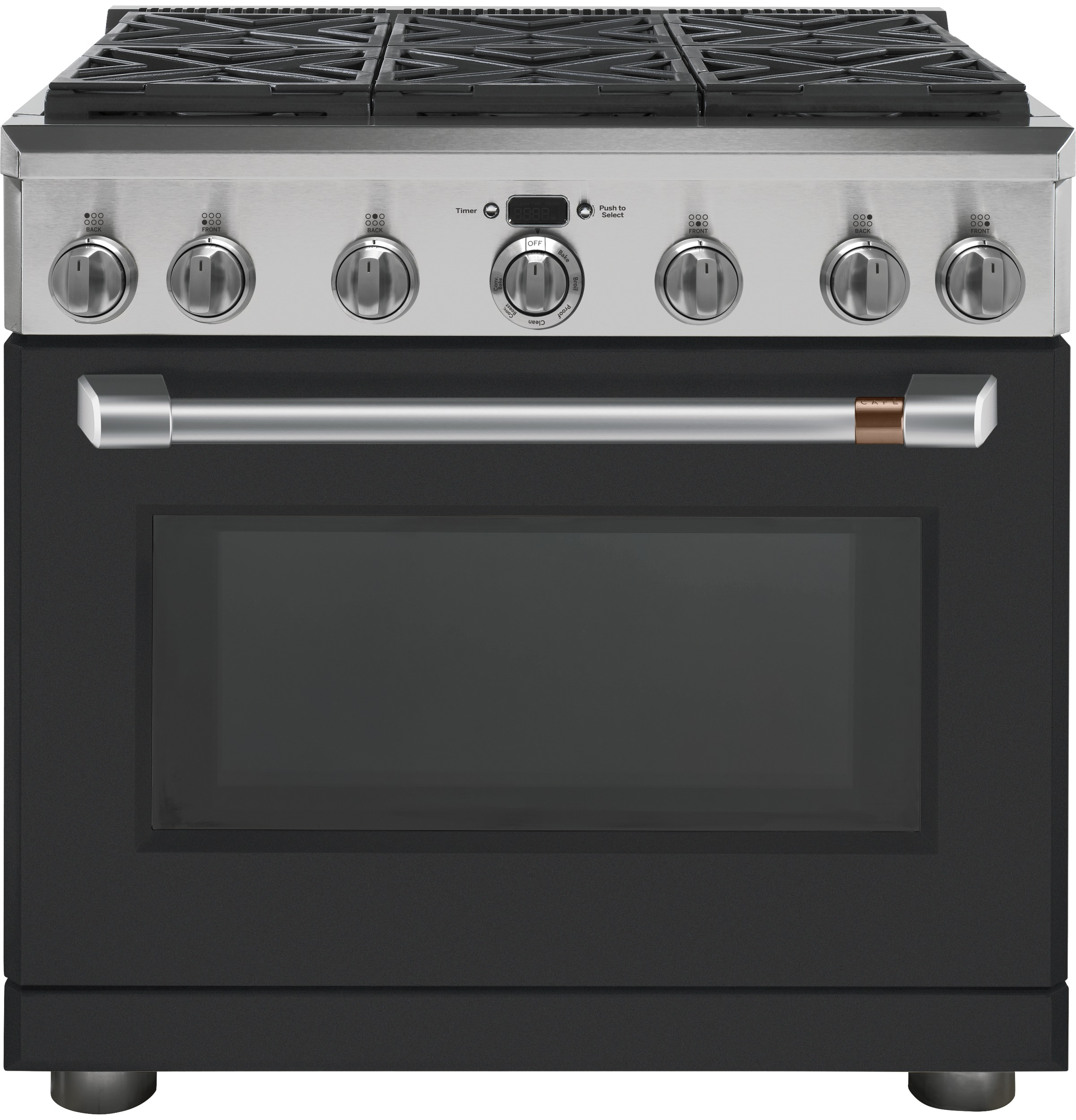 "Model: CGY366P3MD1 | Cafe Café™ 36"" All-Gas Professional Range with 6 Burners (Natural Gas)"
