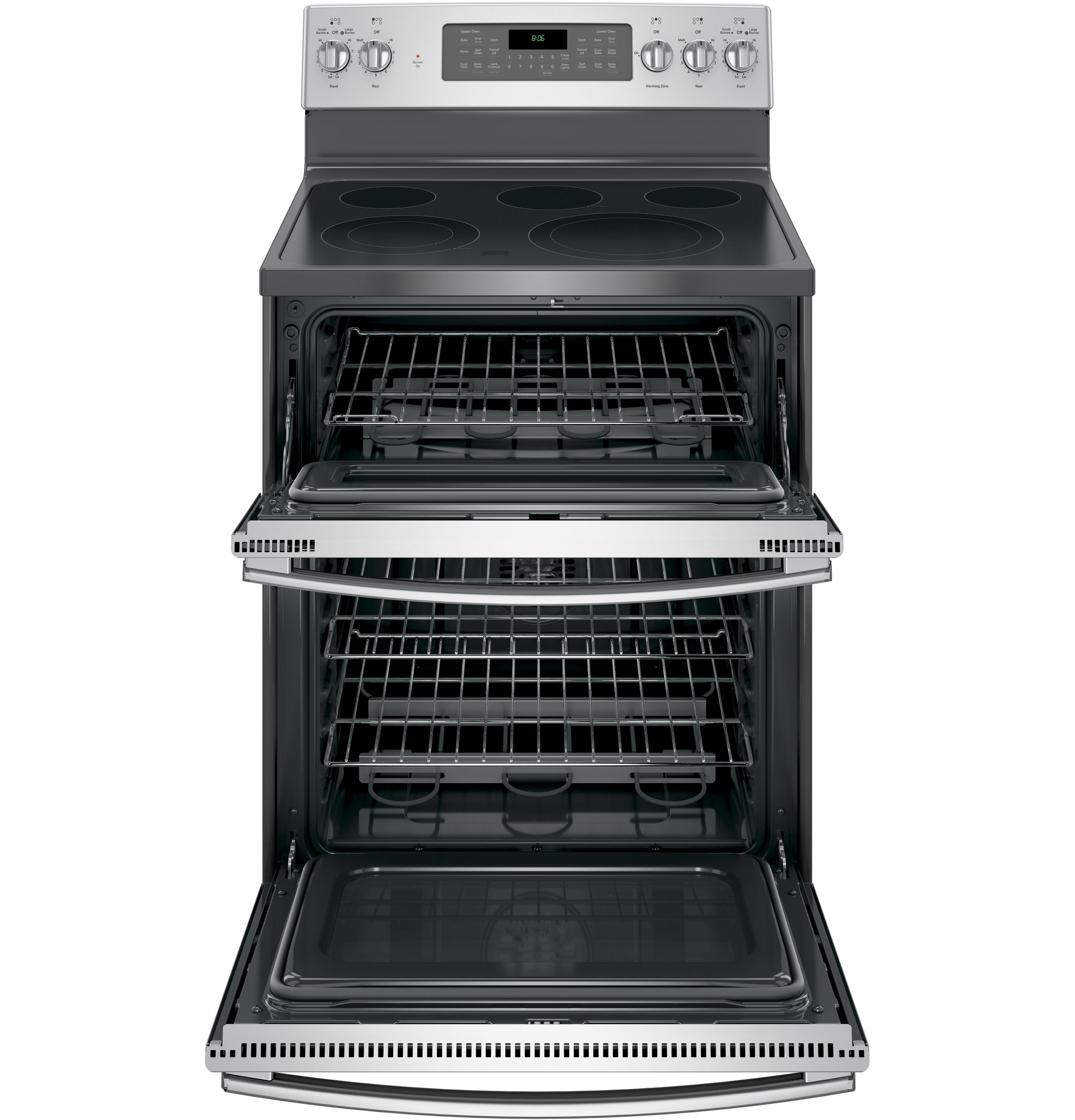 "Model: JB860SJSS | GE GE® 30"" Free-Standing Electric Double Oven Convection Range"