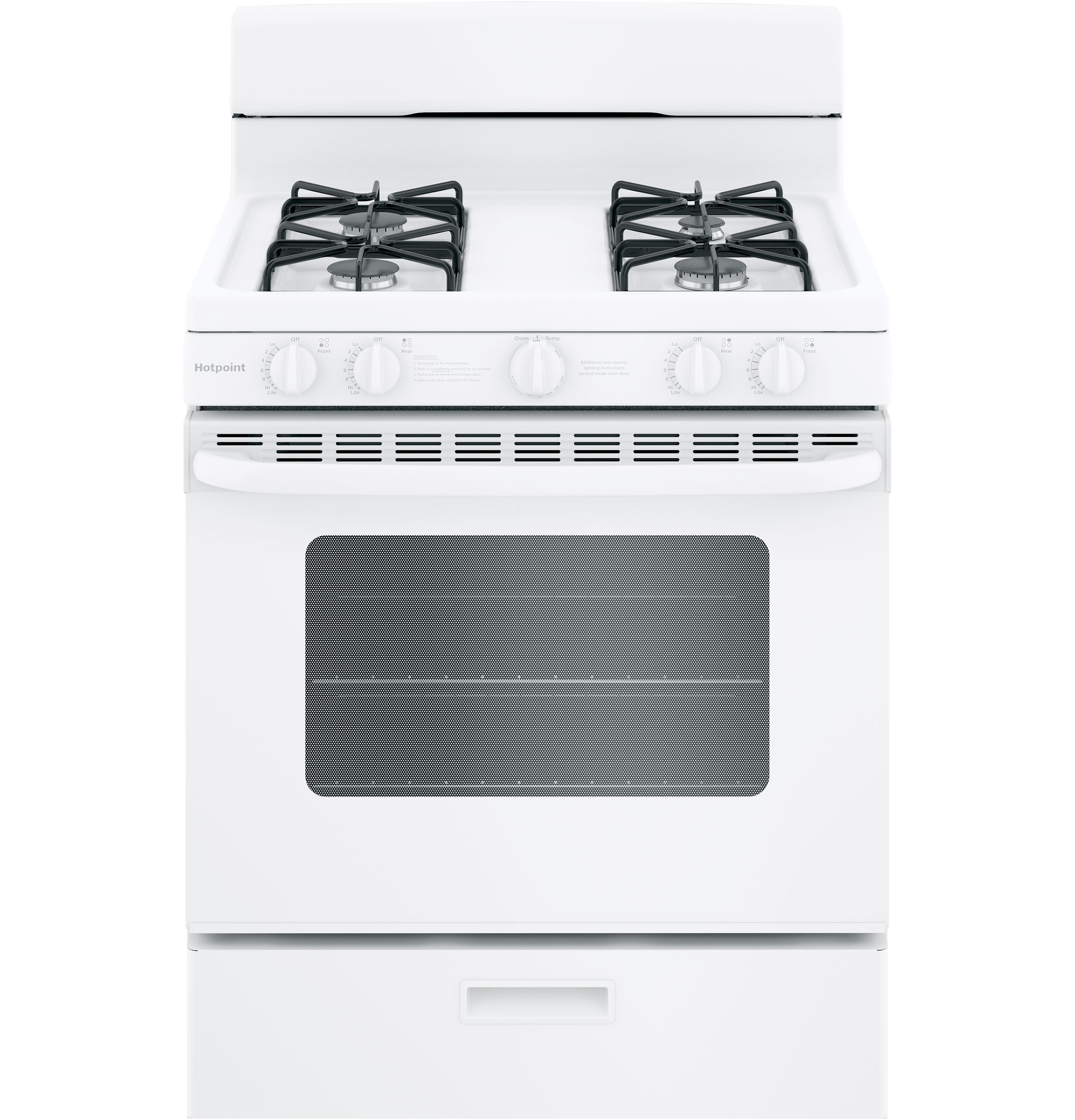 "Hotpoint Hotpoint® 30"" Free-Standing Gas Range with Cordless Battery Ignition"