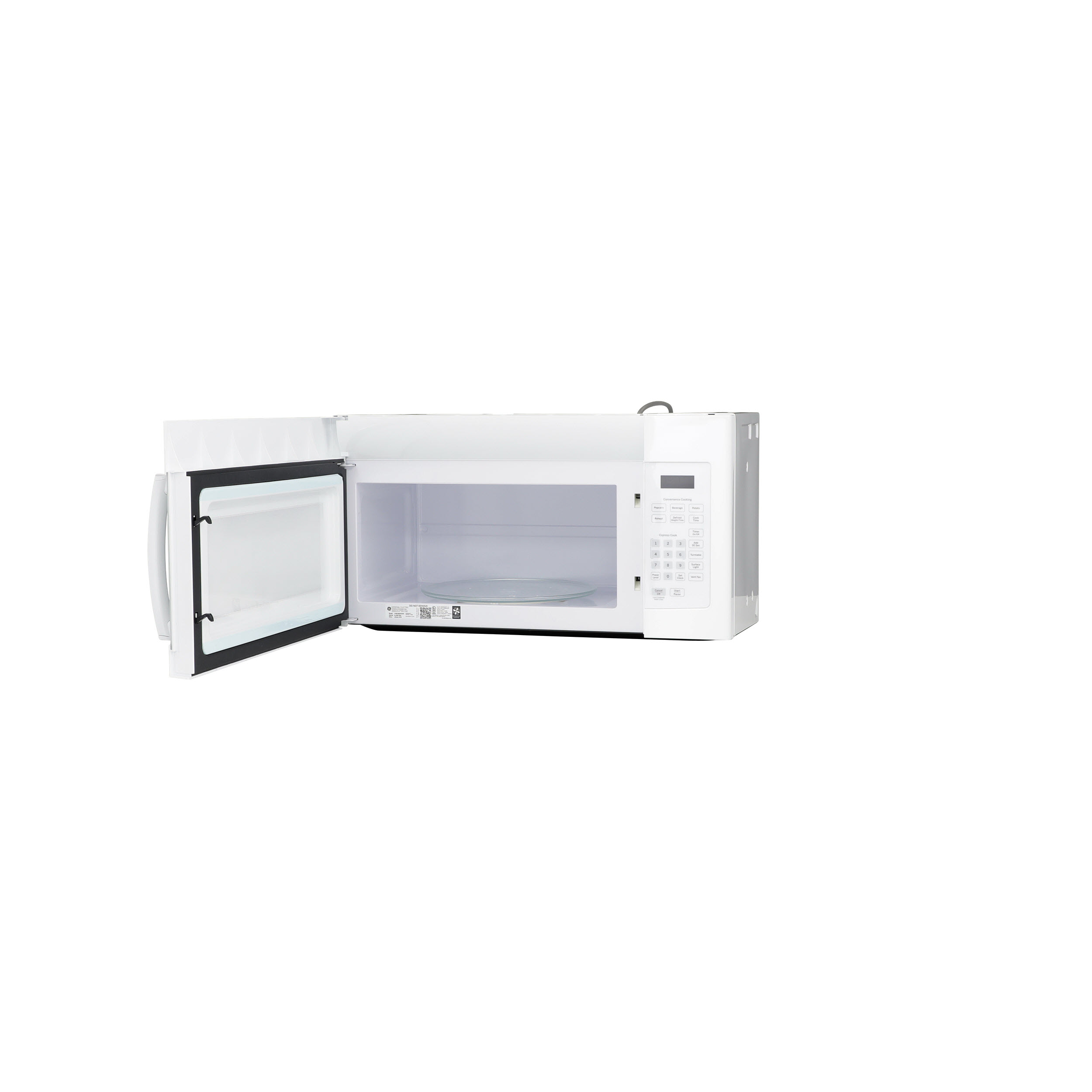 Model: JVM3160DFWW | GE® 1.6 Cu. Ft. Over-the-Range Microwave Oven