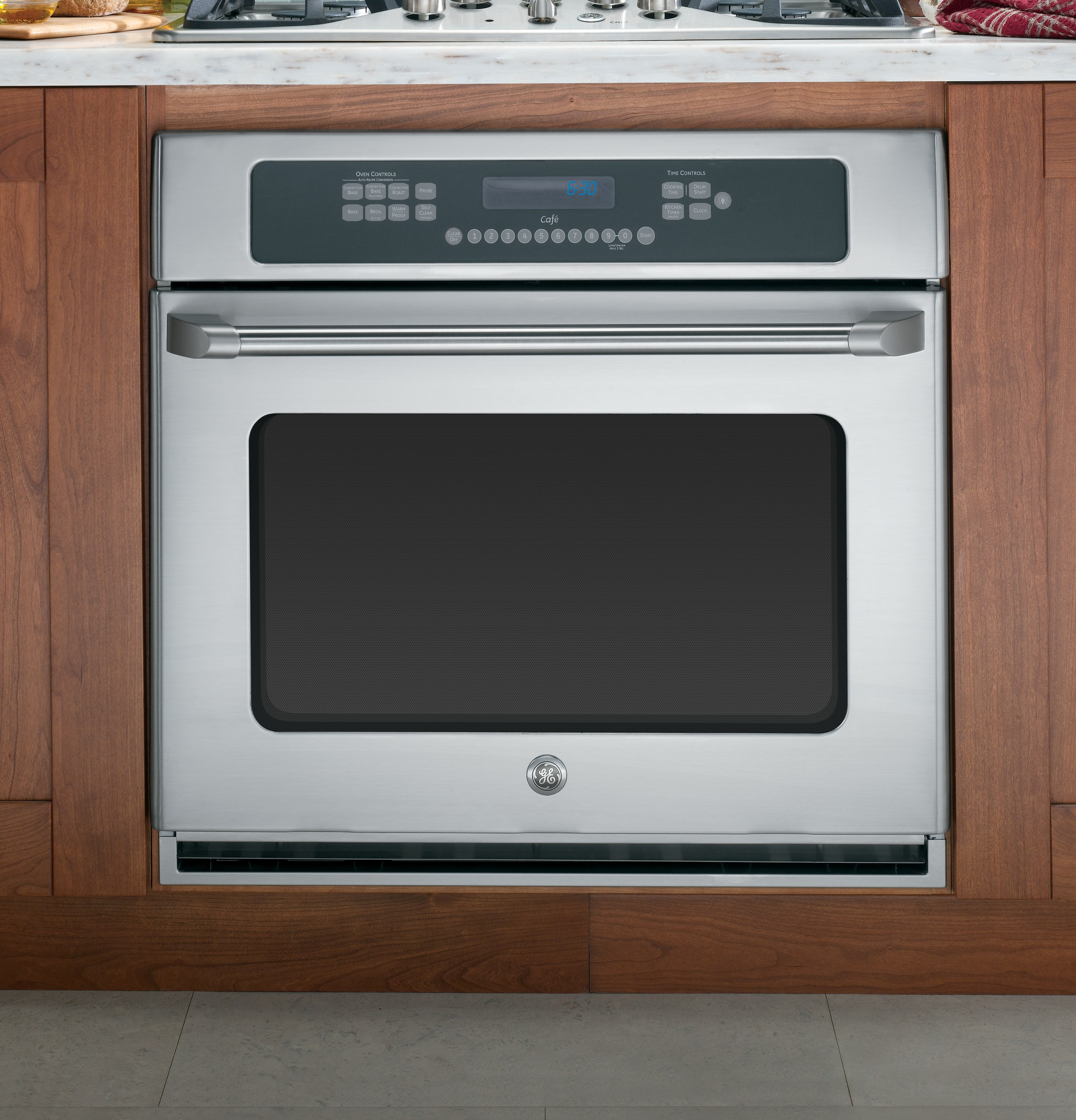 "Model: CT918STSS | GE Cafe GE Café™ Series 30"" Built-In Single Convection Wall Oven"