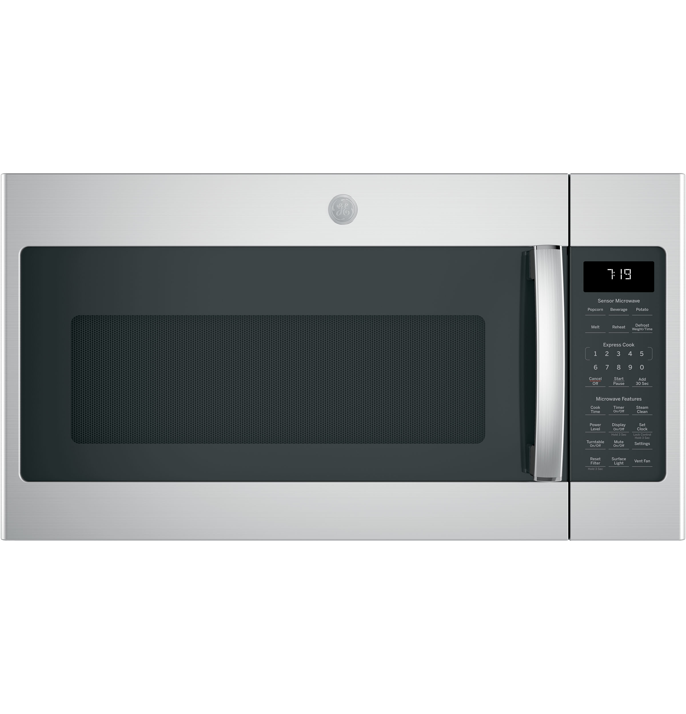 GE GE® 1.9 Cu. Ft. Over-the-Range Sensor Microwave Oven with Recirculating Venting