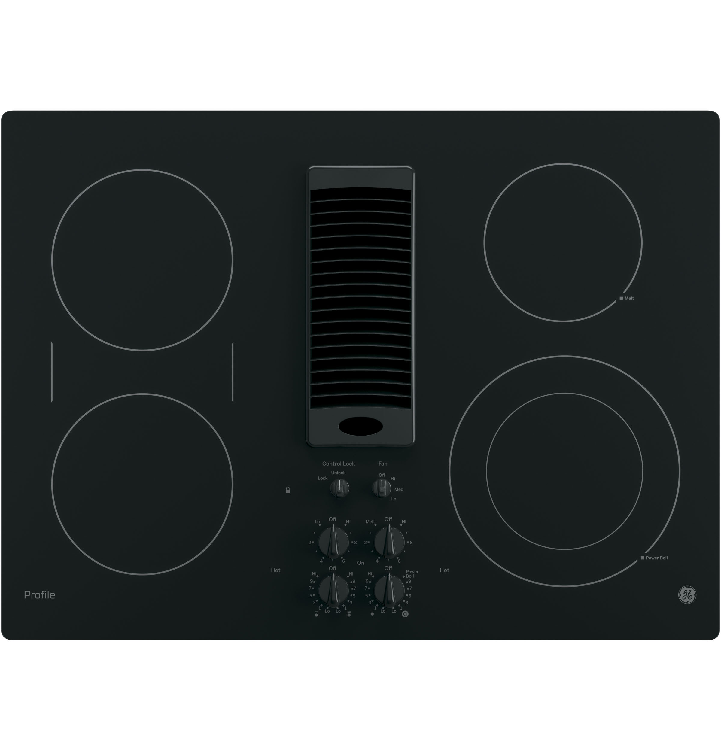 "Profile GE Profile™ 30"" Downdraft Electric Cooktop"