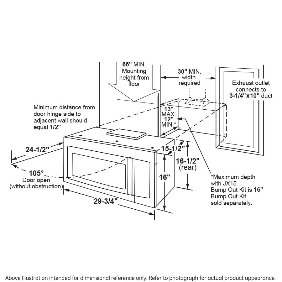 Model: JVM7195DKBB | GE GE® 1.9 Cu. Ft. Over-the-Range Sensor Microwave Oven