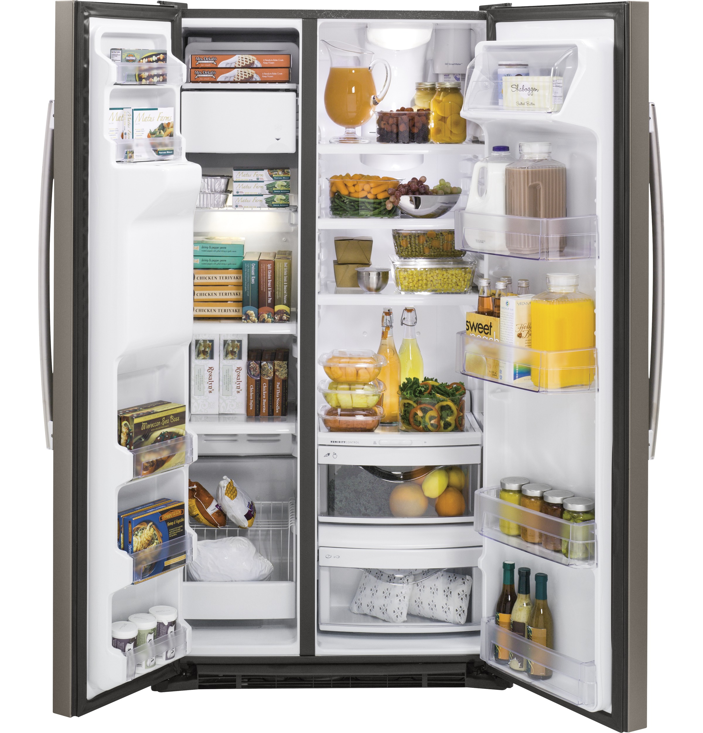 Model: GZS22DMJES | GE® 21.9 Cu. Ft. Counter-Depth Side-By-Side Refrigerator