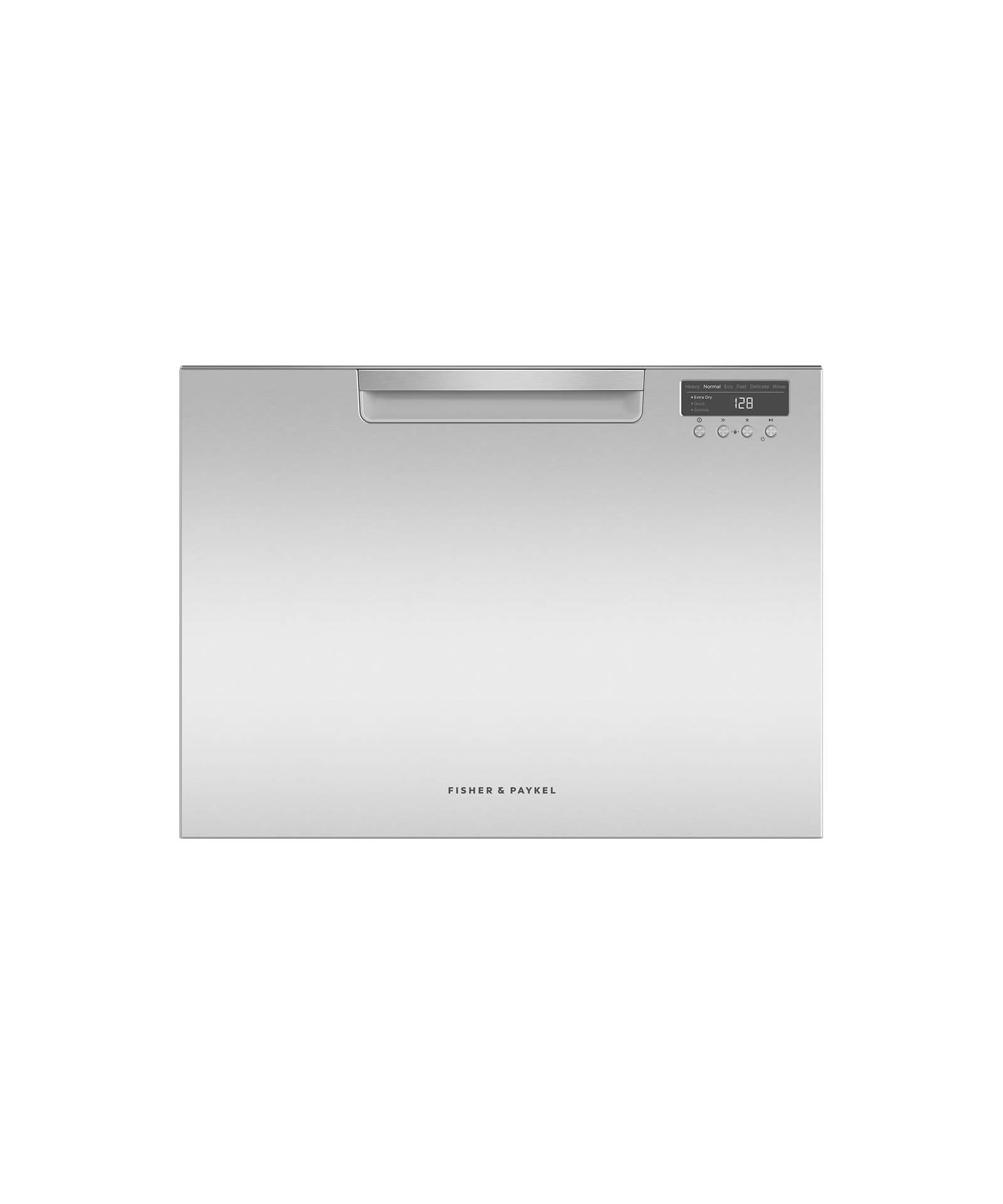 Fisher and Paykel Single DishDrawer™, 7 Place Settings, Water Softener