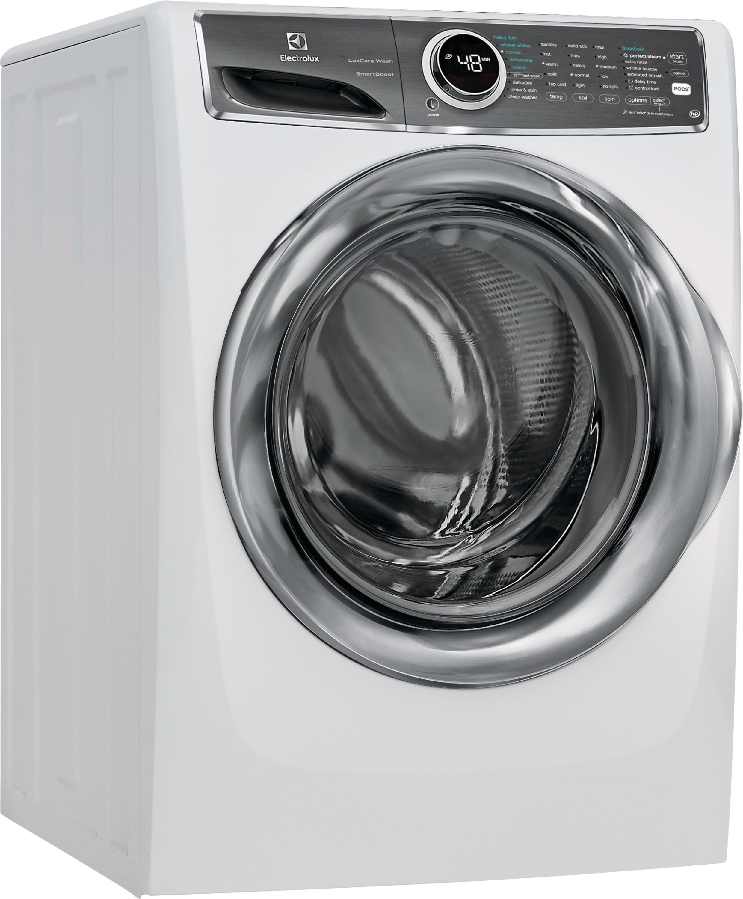 Model: EFLS627UIW | Front Load Perfect Steam™ Washer with LuxCare® Wash and SmartBoost® - 4.4 Cu.Ft.
