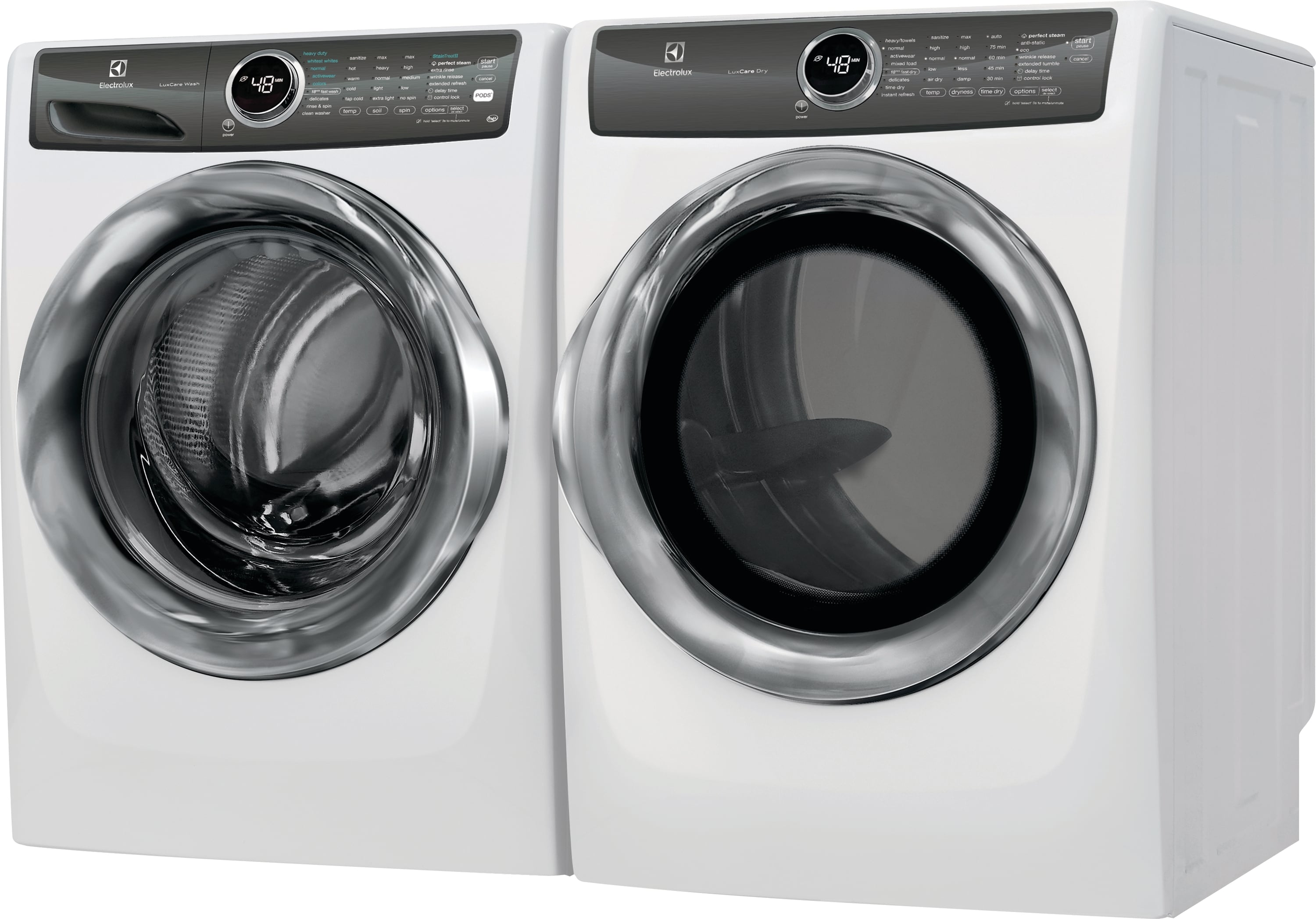 Model: EFMG527UIW | Front Load Perfect Steam™ Gas Dryer with LuxCare® Dry and Instant Refresh - 8.0 Cu. Ft.