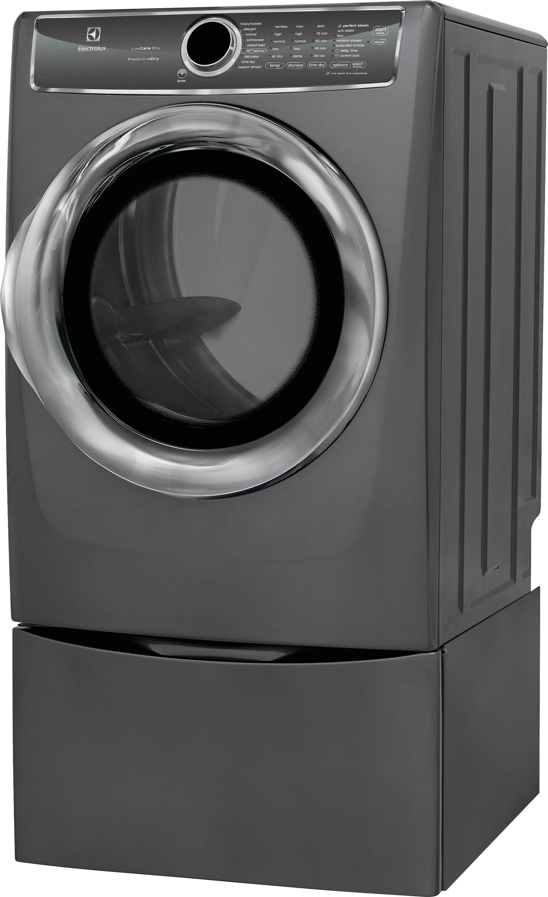 Model: EFMG627UTT | Front Load Perfect Steam™ Gas Dryer with PredictiveDry™ and Instant Refresh - 8.0. Cu. Ft.