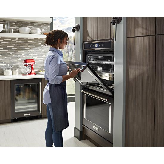 "Model: KUBL304EBS | KitchenAid 24"" Stainless Steel Beverage Center with SatinGlide® Metal-Front Racks"
