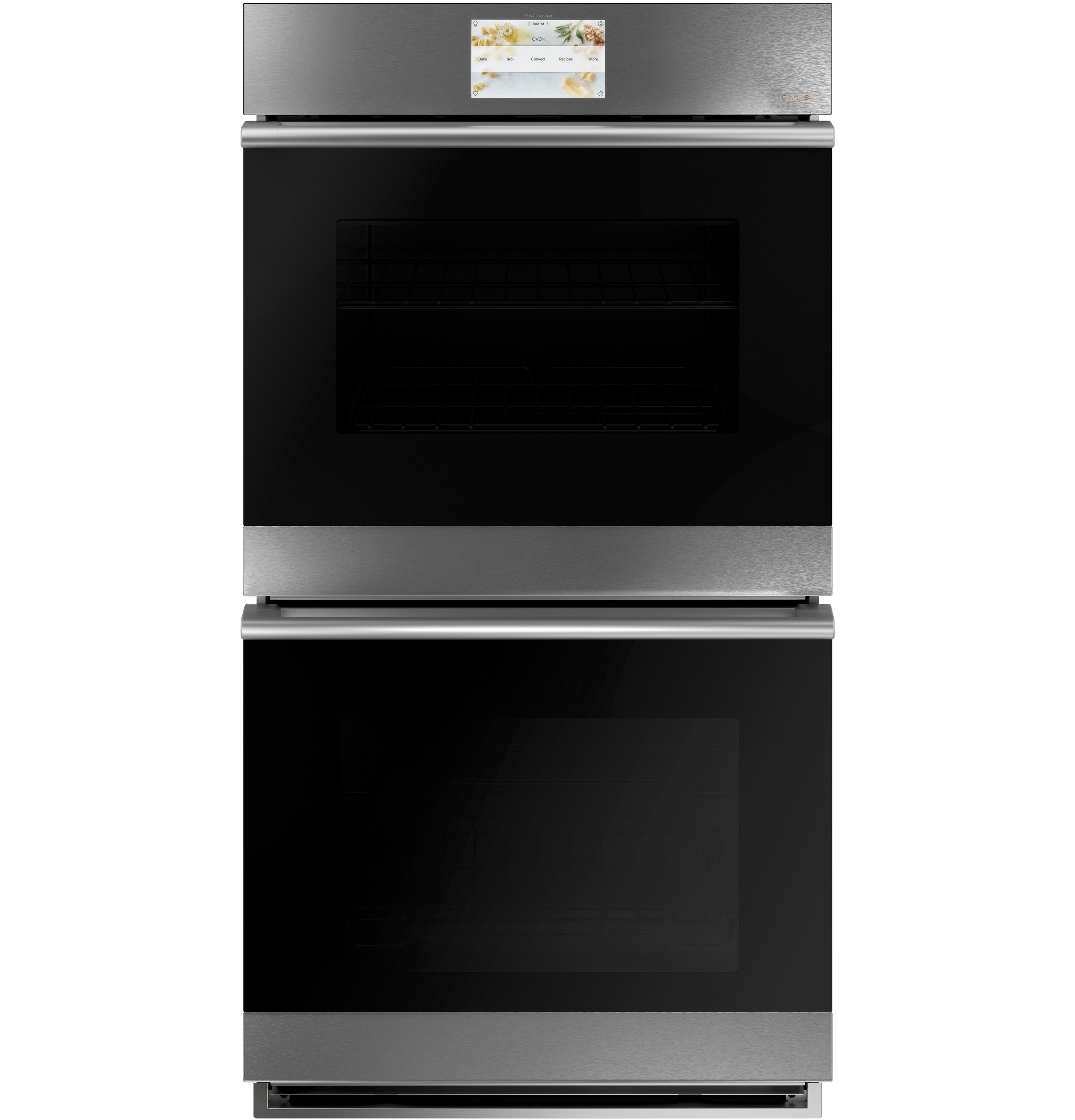 "Cafe Café™ 27"" Smart Double Wall Oven with Convection in Platinum Glass"