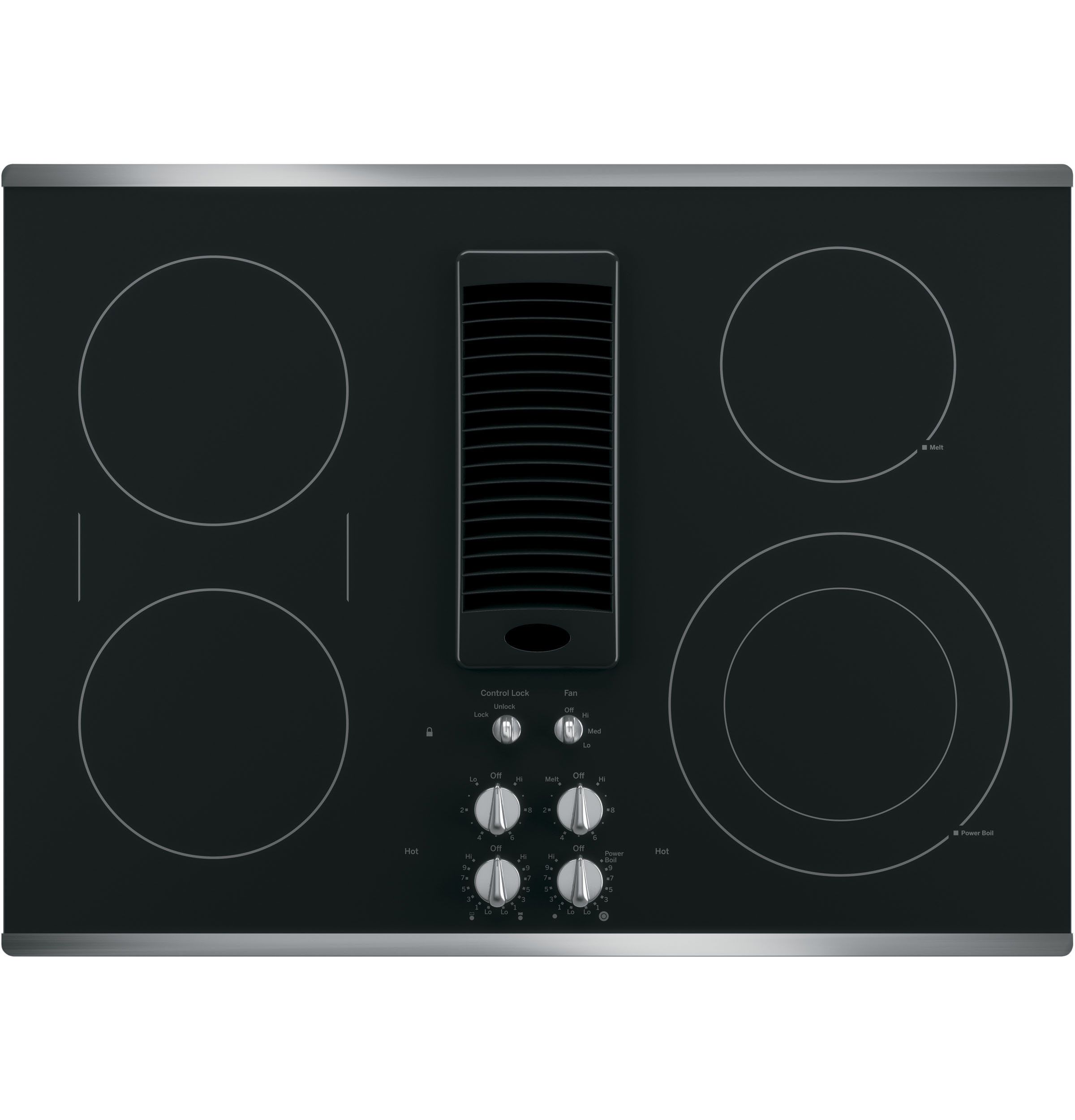 "Model: PP9830SJSS | Cafe GE Profile™ 30"" Downdraft Electric Cooktop"