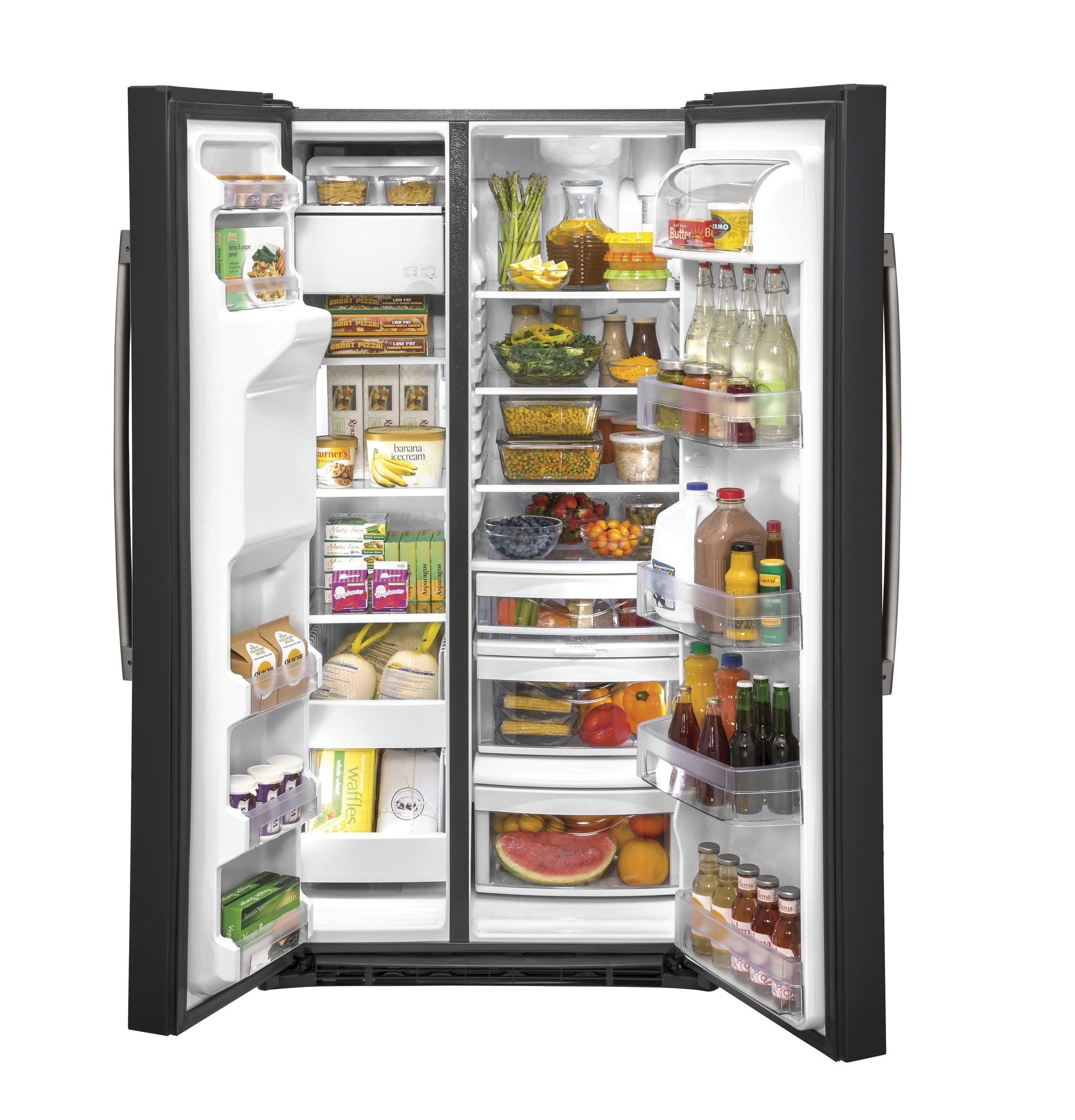 Model: GZS22IENDS | GE GE® 21.8 Cu. Ft. Counter-Depth Side-By-Side Refrigerator