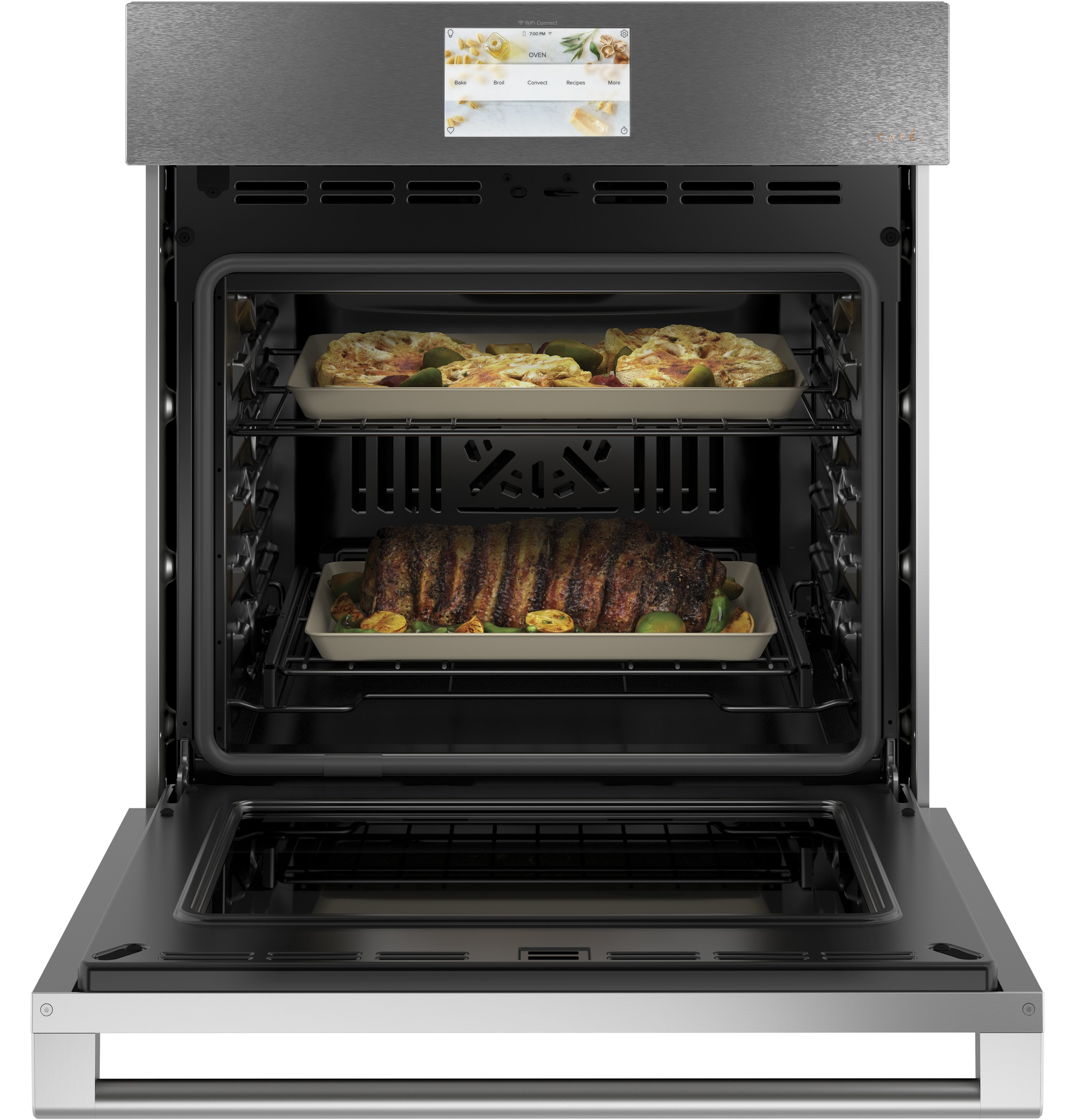 "Model: CKS70DM2NS5 | Cafe Café™ 27"" Smart Single Wall Oven with Convection in Platinum Glass"