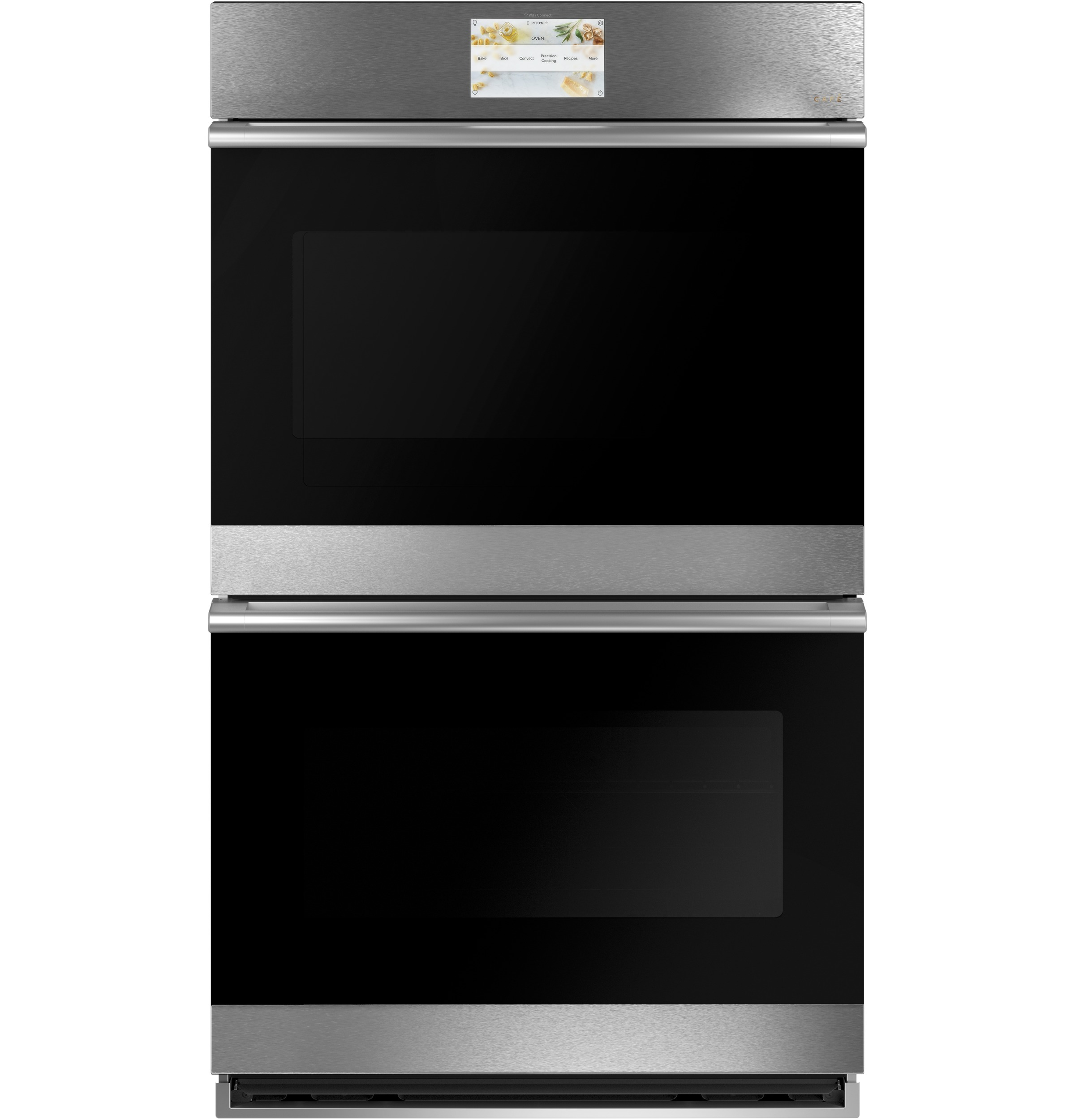 "Cafe Café™ 30"" Smart Double Wall Oven with Convection in Platinum Glass"