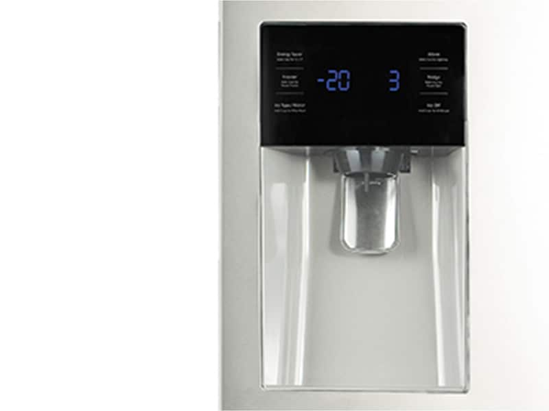 Model: RF263BEAEWW | Samsung 25 cu. ft. French Door with External Water & Ice Dispenser