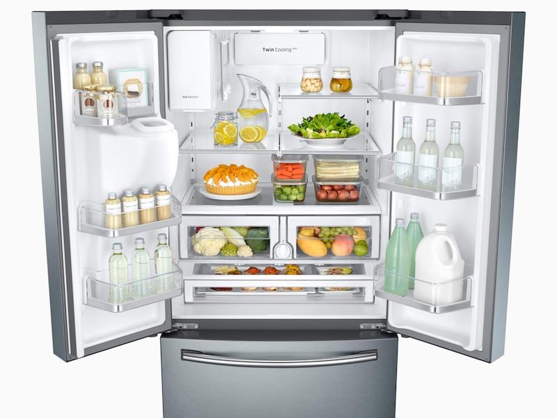 Model: RF26J7500SR | Samsung 26 cu. ft. 3-Door French Door Refrigerator with CoolSelect Pantry™
