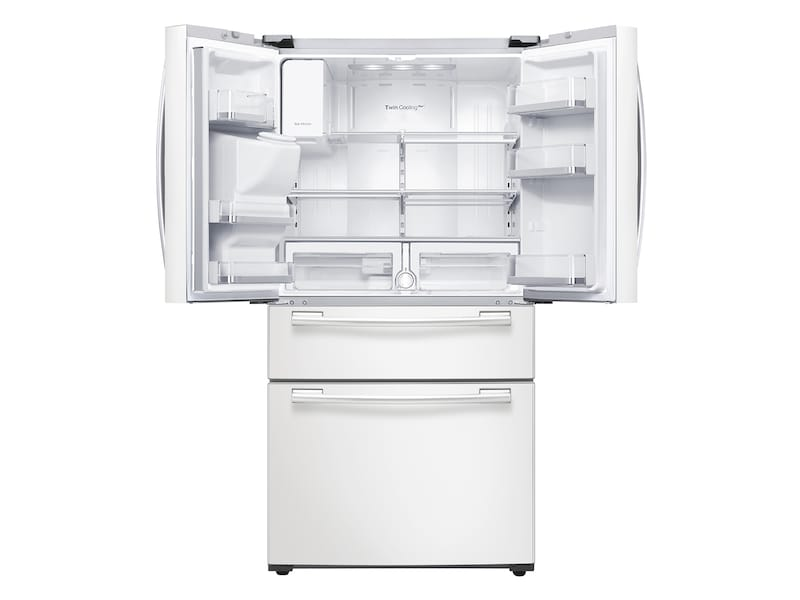 Model: RF25HMEDBWW | Samsung 25 cu. ft. 4-Door French Door Refrigerator