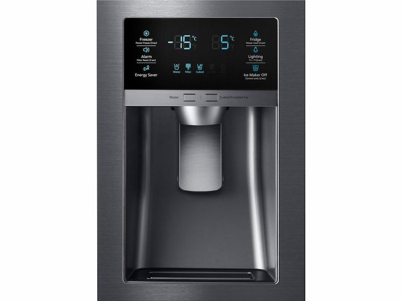 Model: RF25HMEDBSG | Samsung 25 cu. ft. 4-Door French Door Refrigerator
