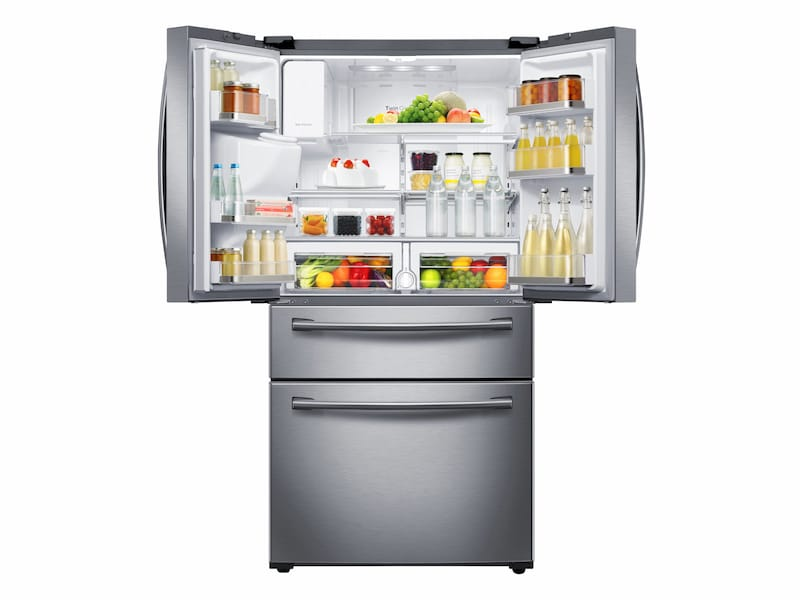 Model: RF28HMEDBSR | Samsung 28 cu. ft. 4-Door French Door Refrigerator