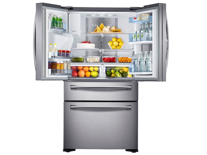 Model: RF22KREDBSR | 22 cu. ft. Counter Depth 4-Door French Door Food Showcase Refrigerator
