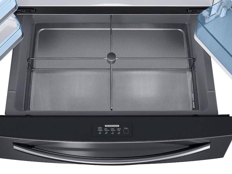 Model: RF22KREDBSG | 22 cu. ft. Counter Depth 4-Door French Door Food Showcase Refrigerator