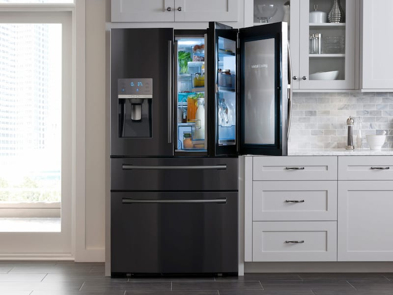 Samsung Rf28jbedbsg 28 Cu Ft 4 Door French Door Food Showcase Refrigerator Dom S Tv Appliance