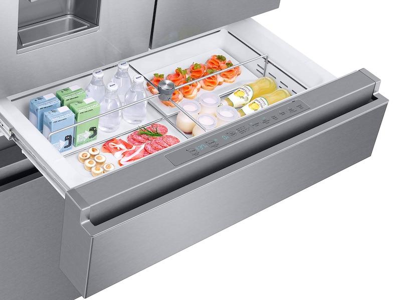 Model: RF23M8070SR | Samsung 23 cu. ft. Capacity Counter Depth 4-Door French Door Refrigerator