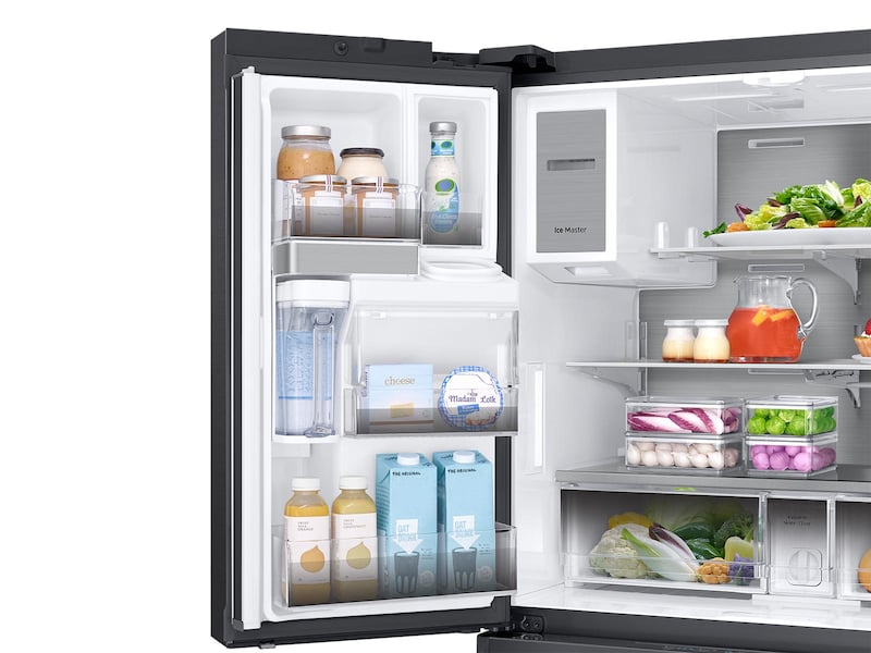 Model: RF23M8090SG | 23 cu. ft. Capacity Counter Depth 4-Door French Door Refrigerator with Polygon Handles