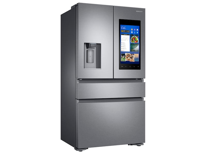 Samsung 22 cu. ft. Capacity Counter Depth 4-Door French Door Refrigerator with Family Hub™ Recessed Handles (2017)