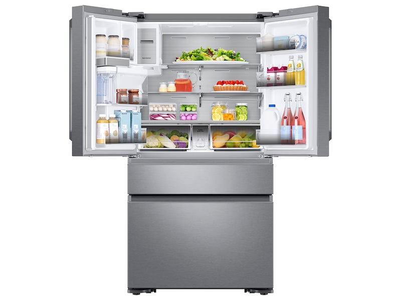 Model: RF23M8590SR | Samsung 22 cu. ft. Capacity Counter Depth 4-Door French Door Refrigerator with Family Hub