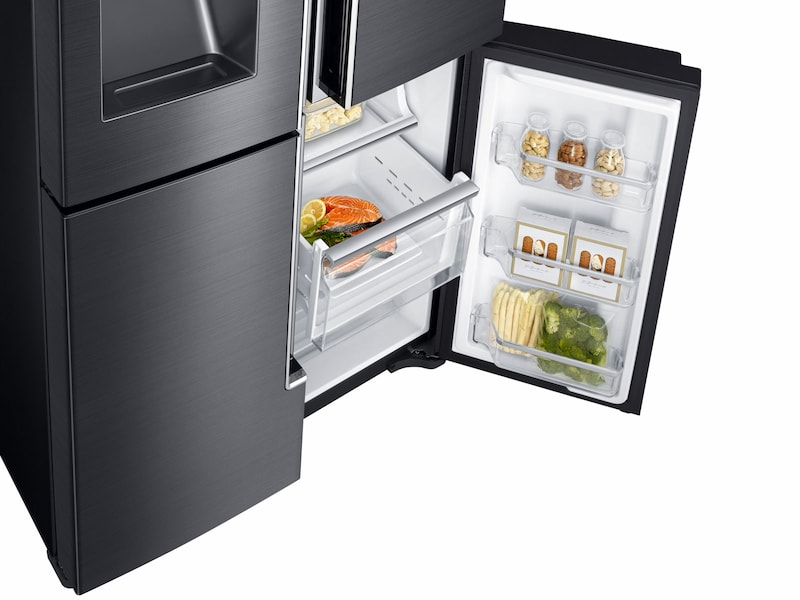 Model: RF23J9011SG | Samsung 23 cu. ft. Counter Depth 4-Door Flex™  Refrigerator with FlexZone™