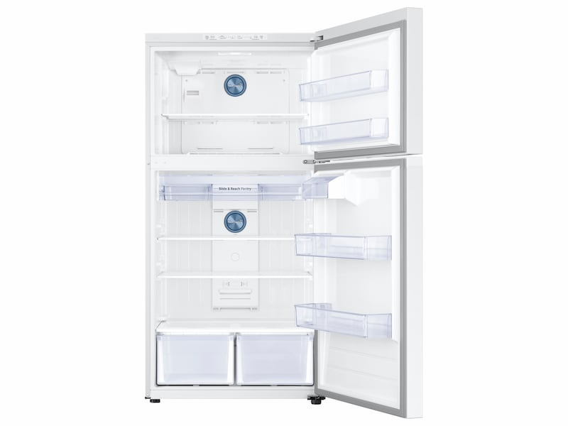 Model: RT21M6213WW | Samsung 21 cu. ft. Capacity Top Freezer Refrigerator with FlexZone™