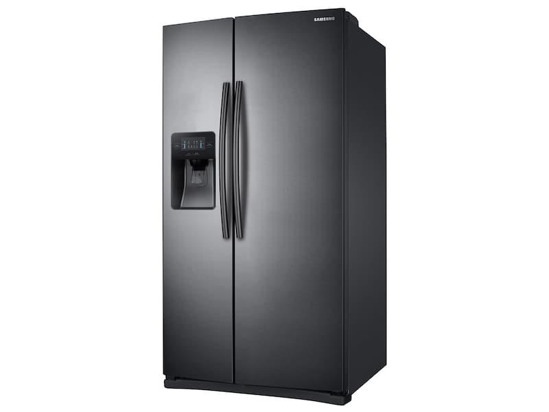 Model: RS25J500DSG   Samsung 25 cu. ft. Side-By-Side Refrigerator with LED Lighting