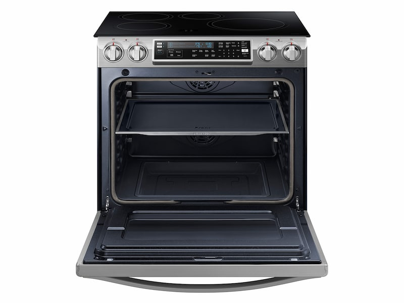 Model: NE58H9970WS | 5.8 cu. ft. Slide-In Induction Chef Collection Range with Flex Duo™ Oven