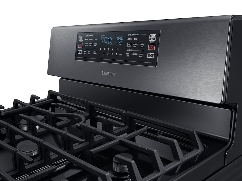 Model: NX58M6850SG | Samsung 5.8 cu. ft. Freestanding Gas Range with 16K and 15K BTU Power Burners