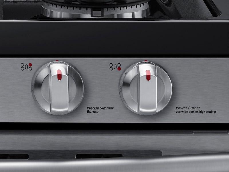 Model: NX58K7850SS | Samsung 5.8 cu. ft. Flex Duo™ with Dual Door Freestanding Gas Range