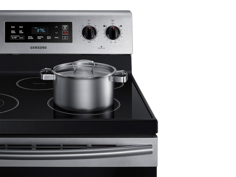 Model: NE59M4310SS | Samsung 5.9 cu. ft. Freestanding Electric Range with Two Dual Power Elements