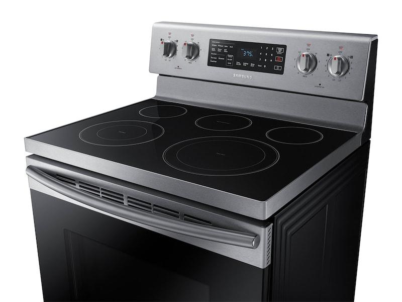Model: NE59M4320SS | Samsung 5.9 cu. ft. Freestanding Electric Range with Warming Center