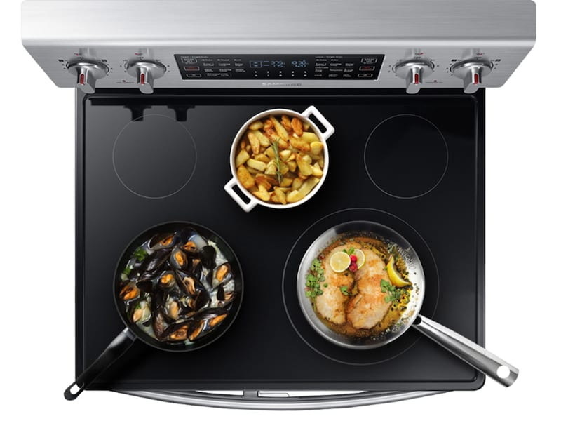 Model: NE59M6850SS | Samsung 5.9 cu. ft. Freestanding Electric Range with Flex Duo™