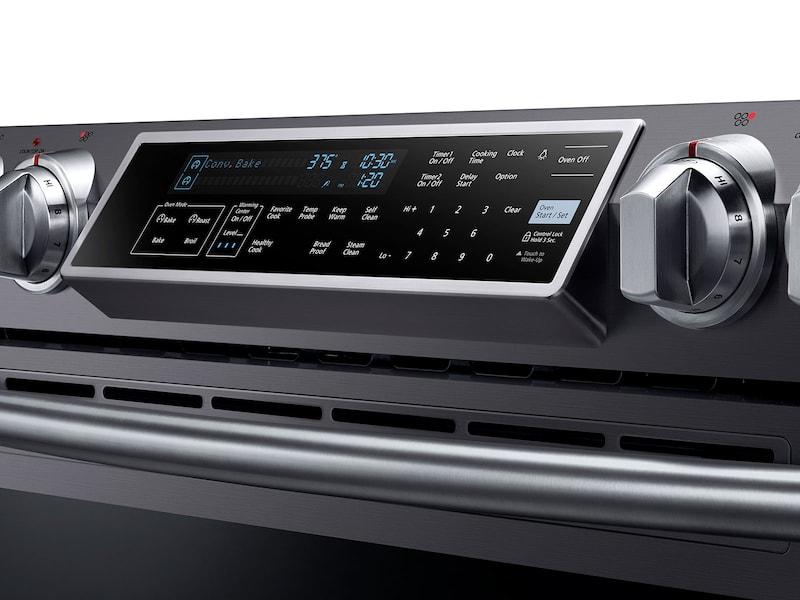 Model: NE58K9500SG | Samsung 5.8 cu. ft. Slide-in Electric Range