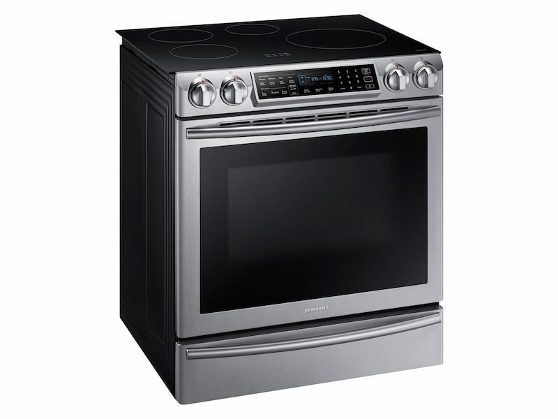 Samsung 5.8 cu. ft. Slide-In Induction Range with Virtual Flame™ Technology in Stainless Steel