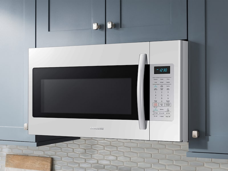 Model: ME18H704SFW | Samsung 1.8 cu. ft. Over The Range Microwave with Sensor Cooking