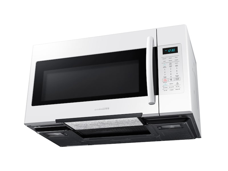 Model: ME18H704SFW   Samsung 1.8 cu. ft. Over The Range Microwave with Sensor Cooking