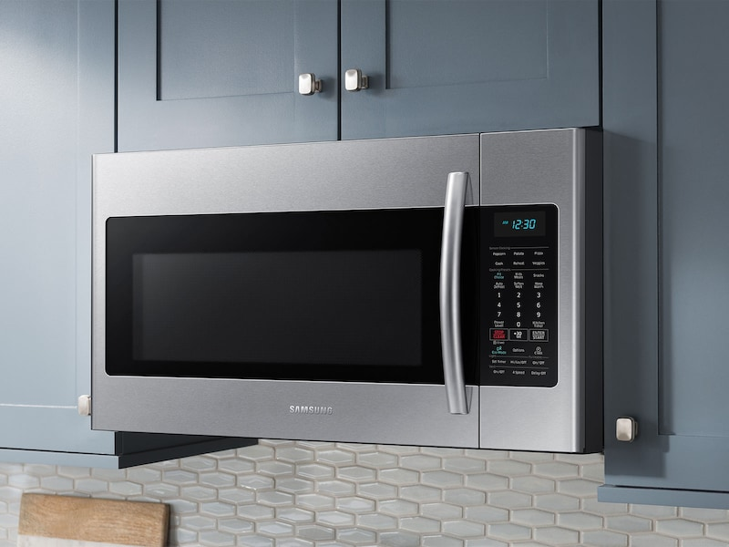 Model: ME18H704SFS | Samsung 1.8 cu. ft. Over The Range Microwave with Sensor Cooking