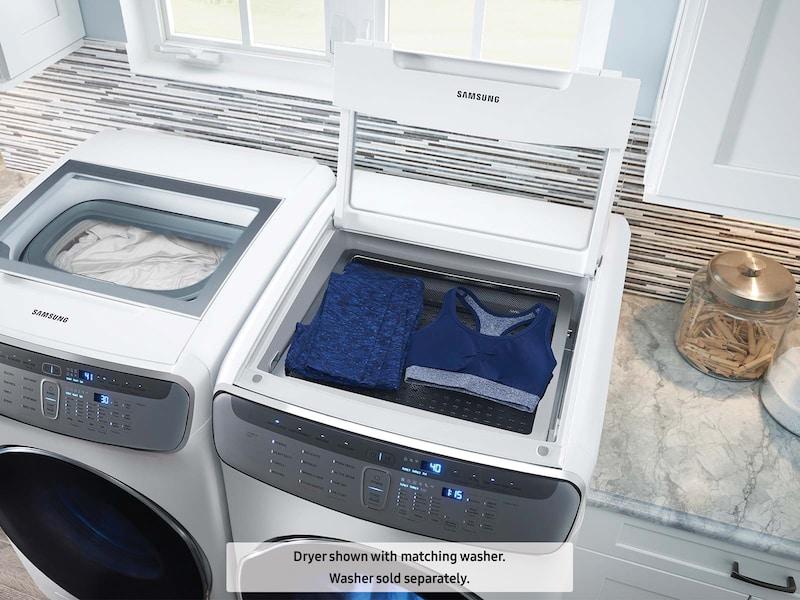 Model: DVE60M9900W | Samsung DV9900 7.5 cu. ft. FlexDry™ Electric Dryer