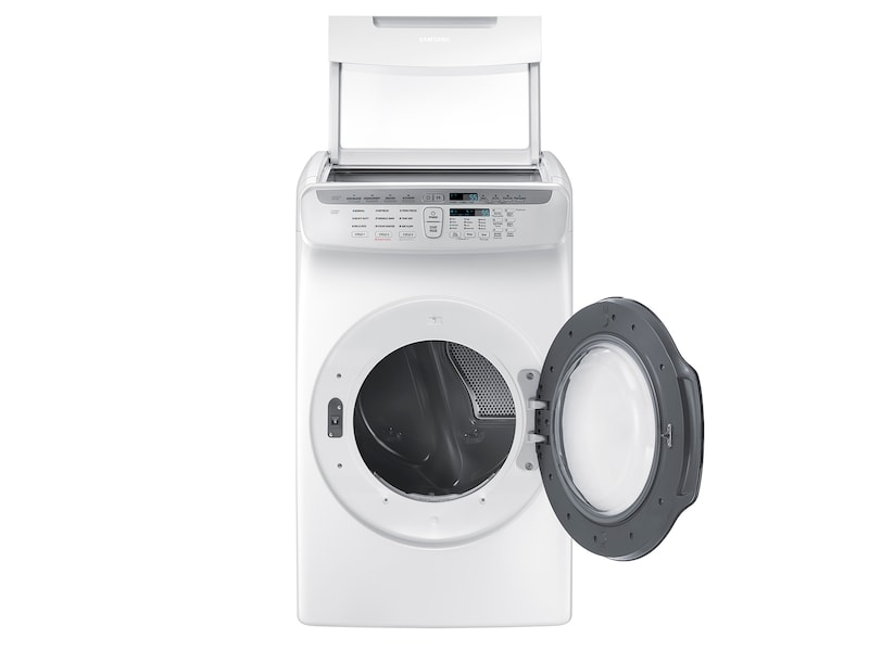 Model: DVE55M9600W | Samsung DV9600 7.5 cu. ft. FlexDry™ Electric Dryer