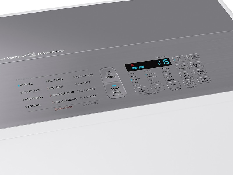 Model: DVG54M8750W | Samsung DV8750 7.4 cu. ft. Gas Dryer with Integrated Touch Controls